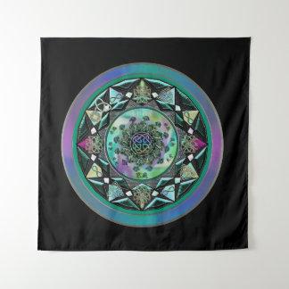 Tapiz Tapicería mística céltica verde de la pared de la