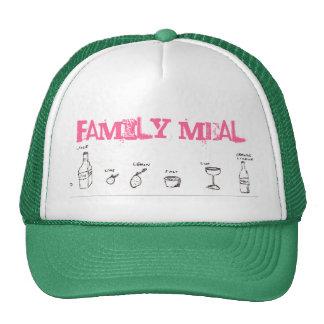 Tarde de la familia, comida de la familia gorros bordados