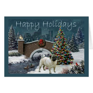 Tarde de la tarjeta de Navidad del barro amasado