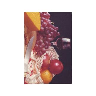 Tarde del vino y del queso impresion en lona