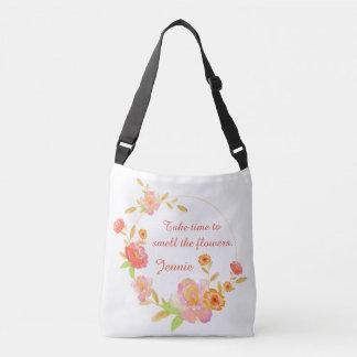 Bolso Cruzado Tarde el tiempo para oler el bolso de las flores