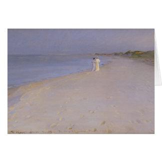 Tarde en la playa del sur, Skagen, 1893 del verano Tarjeta