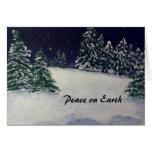 Tarde pacífica del invierno tarjetas