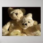 Tarde romántica de los osos de peluche posters