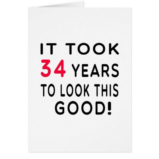 Tardó 34 años de diseños del cumpleaños felicitaciones