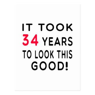 Tardó 34 años de diseños del cumpleaños postales