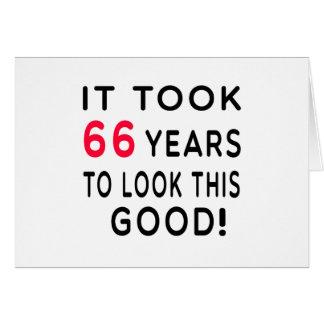 Tardó 66 años de diseños del cumpleaños tarjeton
