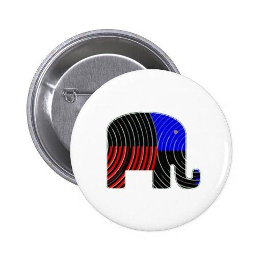 Tarea del elefante - política de los burros 2012 pins