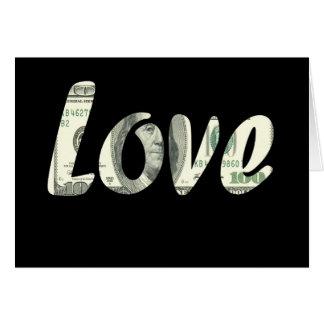 Tarjeta 100 dólares de amor