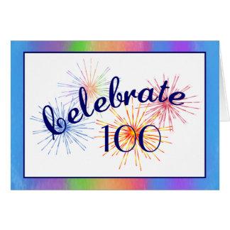 Tarjeta 100o Celebración del cumpleaños