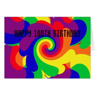 Tarjeta 100o cumpleaños feliz