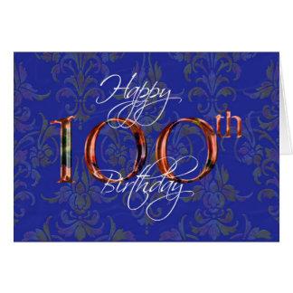Tarjeta 100o feliz cumpleaños