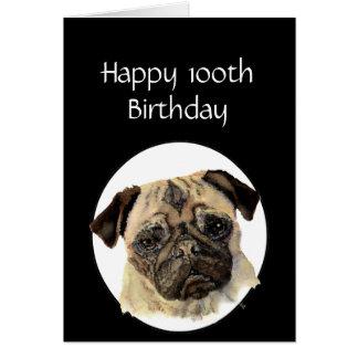 Tarjeta 100o Mascota del humor del cumpleaños, canguro del