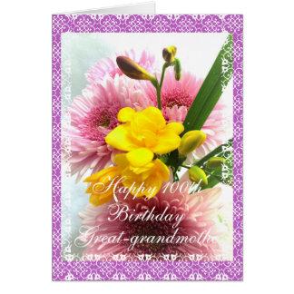 Tarjeta 100o ramo de la flor del cumpleaños de las