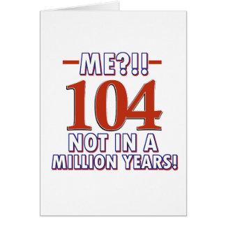 Tarjeta 104os diseños del cumpleaños