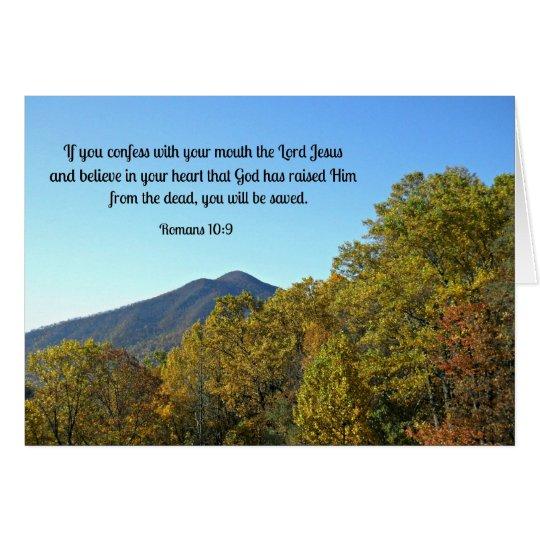 Tarjeta 10:9 de los romanos si usted confiesa con su boca…
