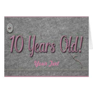 Tarjeta 10 años