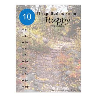 Tarjeta 10 cosas que me hacen feliz - caída
