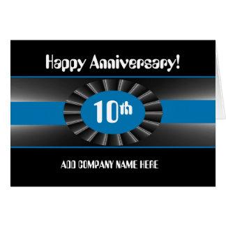 Tarjeta 10ma enhorabuena del aniversario del negocio -