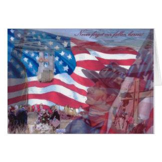 Tarjeta 11 de septiembre collage