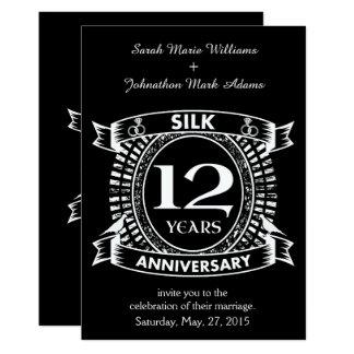 Tarjeta 12ma seda del aniversario de boda