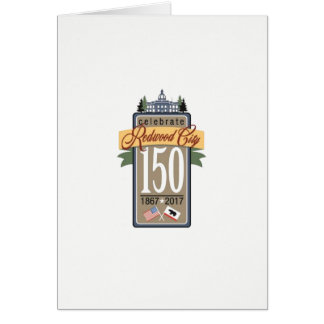 Tarjeta 150o aniversario de Redwood City