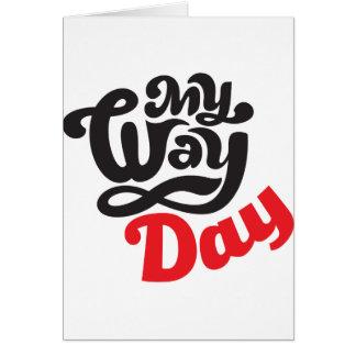 Tarjeta 17 de febrero - mi día de la manera - día del