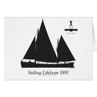 Tarjeta 1891 botes salvavidas navegantes - fernandes tony