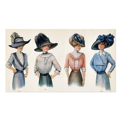 Tarjeta 1910 de visita de la moda de París Tarjeta De Negocio