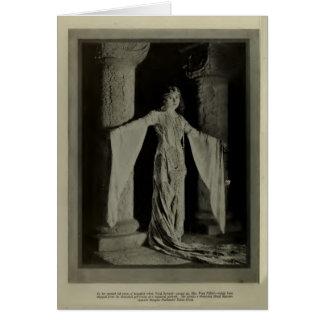 Tarjeta 1922 del retrato del vintage de Enid