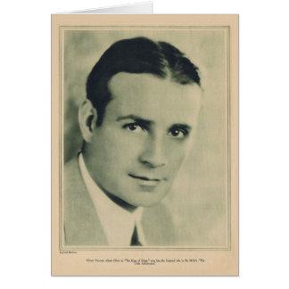 Tarjeta 1927 del retrato del vintage de Varconi
