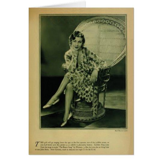 Tarjeta 1929 del retrato del vintage del rey de