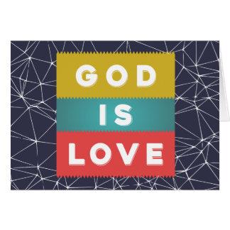 Tarjeta 1 4:8 de Juan - dios es amor