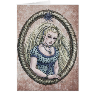 """Tarjeta #1 del arte de la fantasía de """"Rapunzel"""" d"""