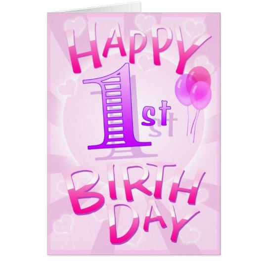 Tarjeta 1r cumpleaños feliz