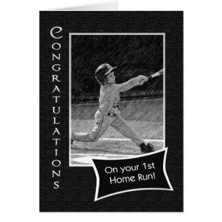 Tarjeta 1r Enhorabuena del home run