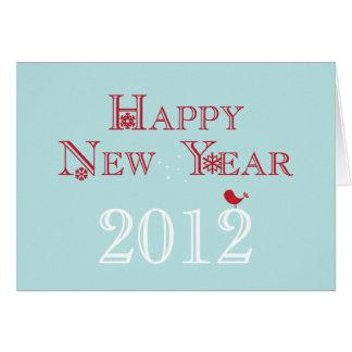 Tarjeta 2012 de felicitación de la Feliz Año Nuevo
