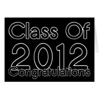 Tarjeta 2012 de la enhorabuena de la graduación