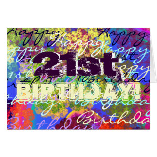 Tarjeta ¡21ro cumpleaños feliz!
