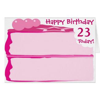 Tarjeta 23ro cumpleaños feliz