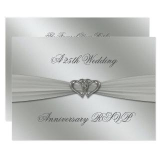 Tarjeta 25to aniversario de boda de la plata clásica RSVP