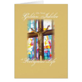 Tarjeta 2683 vitrales de oro del jubileo