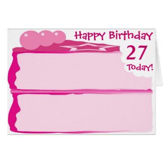Tarjeta 27mo cumpleaños feliz