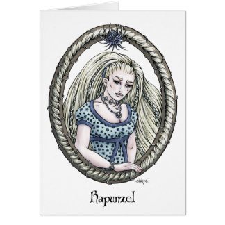 Tarjeta 2 del arte de la fantasía de Rapunzel d