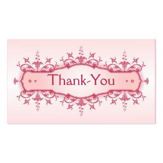 Tarjeta 2 del de agradecimiento del boda tarjetas de visita
