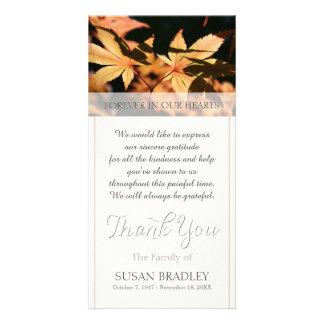 Tarjeta 2 hojas en condolencia del otoño le agradecen