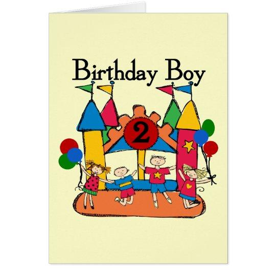 Tarjeta 2das camisetas y regalos del cumpleaños del
