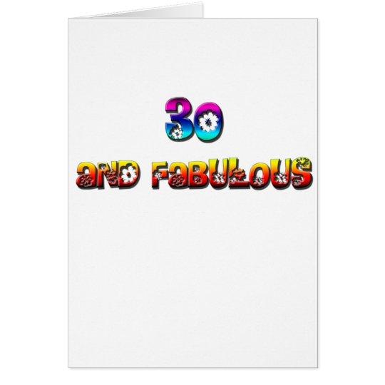 Tarjeta 30 y arco iris fabuloso