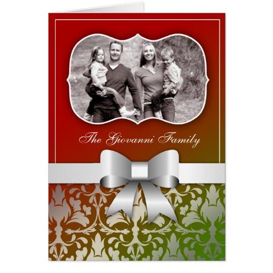 tarjeta 311-Christmas presente con el arco de
