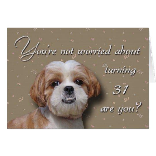 Tarjeta 31ro Perro del cumpleaños
